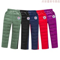 新款儿童羽绒裤白鸭绒男女童外穿中大童加厚冬季羽绒裤