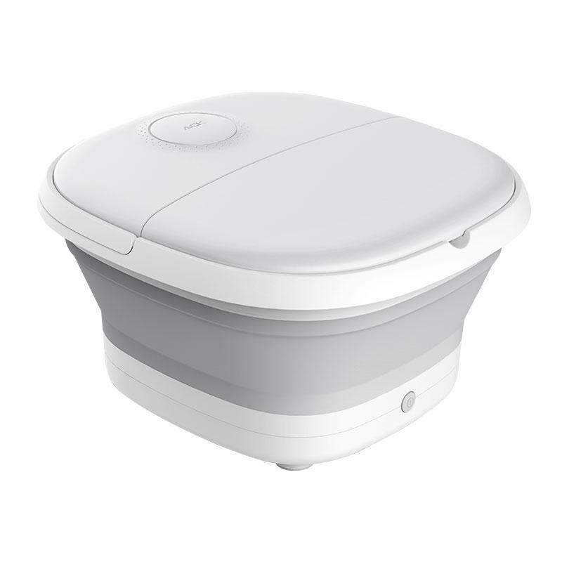 可折叠便携足浴盆自动按摩洗脚盆电动加热家用恒温泡脚桶 气泡按摩 红光暖足