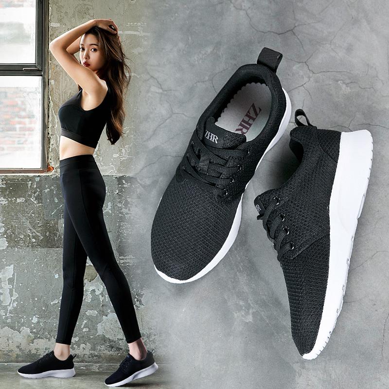 ZHR2018春季新款韩版运动鞋跑步鞋子平底休闲鞋跑鞋百搭单鞋女鞋B80