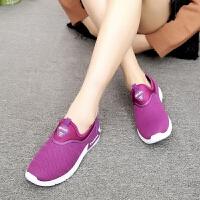 老北京布鞋春季女鞋软底妈妈鞋中老年网面运动鞋休闲老人健步鞋
