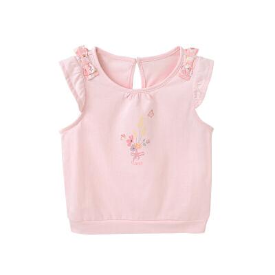 女童背心上衣女宝宝T恤婴儿衣服外出服