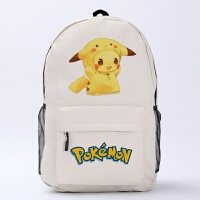 皮卡丘书包 口袋妖怪系列 宠物小精灵周边 动漫双肩包 旅行包背包 送动漫书签2张