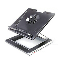 安尚actto NBS-07笔记本散热架 散热器 电脑支托架人体工学底座 黑色