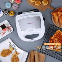 三明治机华夫饼机家用三文治机烤面包吐司早餐机蛋糕机