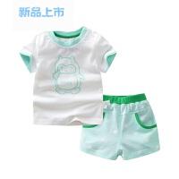 婴儿夏季衣服儿童小孩短袖短裤男童女童夏装卡通宝宝纯棉T恤套装