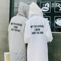 2018潮流坊晒衣女男士中长款风衣服薄夏季情侣装夹克上户外皮肤衣