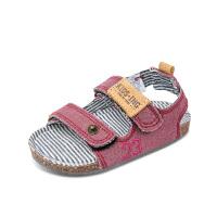 童鞋夏季沙滩鞋新款牛仔儿童凉鞋男女童露趾凉鞋