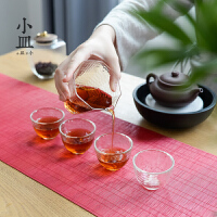 茶杯小杯子日式锤纹家用功夫茶具