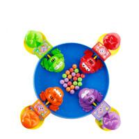 青蛙吃豆玩具高乐子互动桌面游戏套装儿童男孩热门抖音同款玩具 四只青蛙吃豆游戏套装10773(配40粒彩珠)
