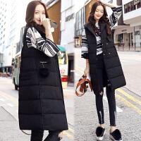 棉衣马甲女士外套冬季无袖冬季新款女装韩版中长款修身马夹潮