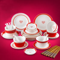 陶瓷器餐具套装 结婚庆餐具乔迁*厨房餐饮用具碗配筷子 婚庆用品结婚礼物礼品工艺品