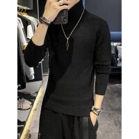 冬季半高领毛衣潮流韩版个性上衣ins港风宽松针织衫男长袖加厚