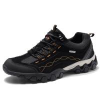 秋季登山鞋男士户外休闲鞋系带防滑旅游鞋耐磨徒步运动鞋