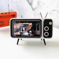 复古蓝牙音箱电视机手机支架音响TV插卡U盘多功能插卡创意摆件