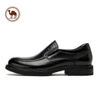 骆驼牌2019秋季男士皮鞋真皮商务正装男鞋黑色透气休闲皮鞋爸爸鞋