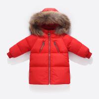 宝宝冬季儿童羽绒服中长款男童女童2018新款白鸭绒小女孩加厚外套