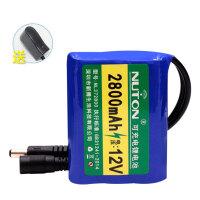 12V锂电池2800mAh可充电锂电池音响移动电源伏户外音箱18650