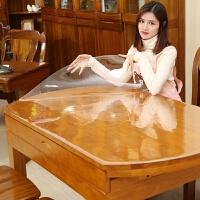椭圆形可折叠伸缩圆桌PVC餐桌布软玻璃桌布防水防烫防油免洗家用