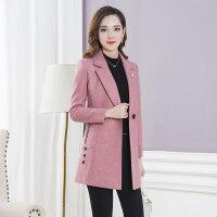 小个子羊毛呢外套秋冬款女装修身显瘦韩版短款呢子上衣