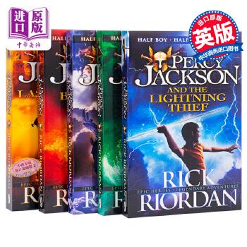 Percy Jackson英文原版 波西杰克逊 5册套装小说 Percy Jackson 5 Books Collection 神火之盗 巨神之咒+魔兽之海 雷克莱尔顿 适合中小学生阅读的进阶级英语科幻小说
