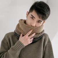 新款百搭简约韩版冬季学生保暖男士毛线围脖套头情侣加厚针织