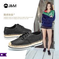 【低价秒杀】jm快乐玛丽秋季新款平底松糕系带舒适休闲鞋学生女鞋子