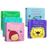 儿童英文原版绘本 Usborne That's Not My触摸书系列5本 0-3-6岁幼儿启蒙认知早教触摸感知绘本