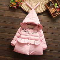女童棉衣冬�b�和�加厚棉�\中�L款小童3羽�q6冬季5洋�馔馓�4�q
