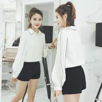 灯笼长袖打底衬衫女2018春秋季新款韩版气质小香风百搭显瘦新衬衣