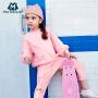 迷你巴拉巴拉女童宝宝长袖套装童装年春装运动纯棉两件套潮