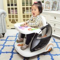 餐车盘手推车小孩可坐遥控儿童电动车双驱四轮宝宝玩具汽车