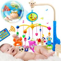 音乐旋转床头铃摇铃床挂 婴儿玩具0-1岁床铃 宝宝3-6-12个月