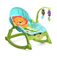 费雪多功能宝宝摇椅 婴幼儿安抚摇椅婴儿可折叠躺椅哄睡摇篮床