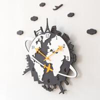 挂钟客厅美式个性挂表现代静音时钟家用石英钟表