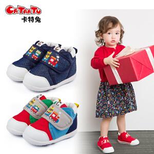 卡特兔儿童学步鞋宝宝休闲2018新春秋软底1-3-5岁男童帆布鞋女童