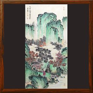 《人在秀水青山中》张一娜 中国书画家协会一级美术师R2542(画心发货)