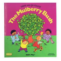 【全店300减100】英文绘本廖彩杏书单 The Mulberry Bush启蒙韵文儿歌洞洞书+cd