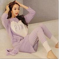 慈姑睡衣女秋长袖甜美韩版春秋季家居服冬季女士套装