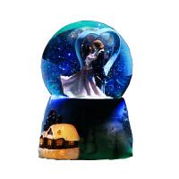 音乐盒 八音盒天空之城水晶球雪花旋转音乐盒创意水晶球生日礼物送老婆女友闺蜜