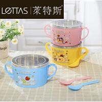 儿童餐具不锈钢碗套装 宝宝碗带盖儿童碗勺小孩碗幼儿园小学生碗