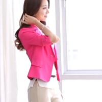 小西服女士外套韩版修身大码七分袖百搭小西装短款