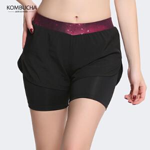 【新春特惠价】Kombucha运动健身短裤女士速干透气内衬防走光健身跑步运动热裤K0247