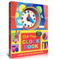 【全店300减100】英文原版 Tick-Tock Clock Book 时钟书 纸板书 儿童绘本正版图书读物 3-6岁