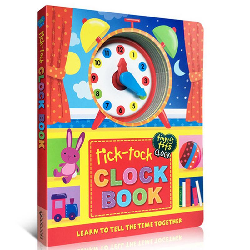 英文原版 Tick-Tock Clock Book 时钟书 纸板书 儿童绘本正版图书读物 3-6岁宝宝学习合理安排作息时间概念 亲子游戏互动图书