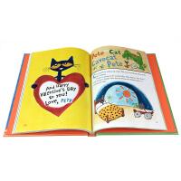 英文原版 Pete the Cat: 5-Minute Pete the Cat Stories皮特猫12个故事合集亲