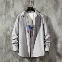 新款男长袖衬衫修身韩版秋季青少年免烫纯色衬衣白衬衫男寸衫