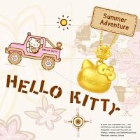 周大福珠宝Hello Kitty凯蒂猫足金黄金吊坠 R13824 R20208【周大福佳礼 可礼品卡购】