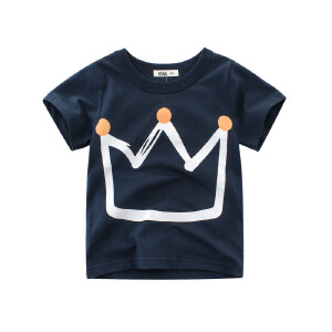 乌龟先森 儿童T恤 女童T恤中大童儿童印花打底衫韩版棉质圆领白色卡通小熊短袖