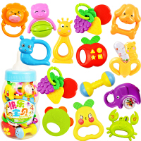 婴儿玩具 0-1岁摇铃益智玩具 新生儿宝宝玩具 婴幼儿牙胶手摇铃