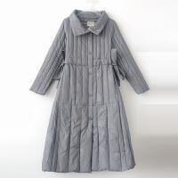 轻薄羽绒服女中长款冬季韩版收腰修身过膝立领白鸭绒外套